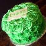Green Ombre Buttercream Roses Cake for Granny