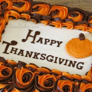 Happy Thanksgiving on Cake