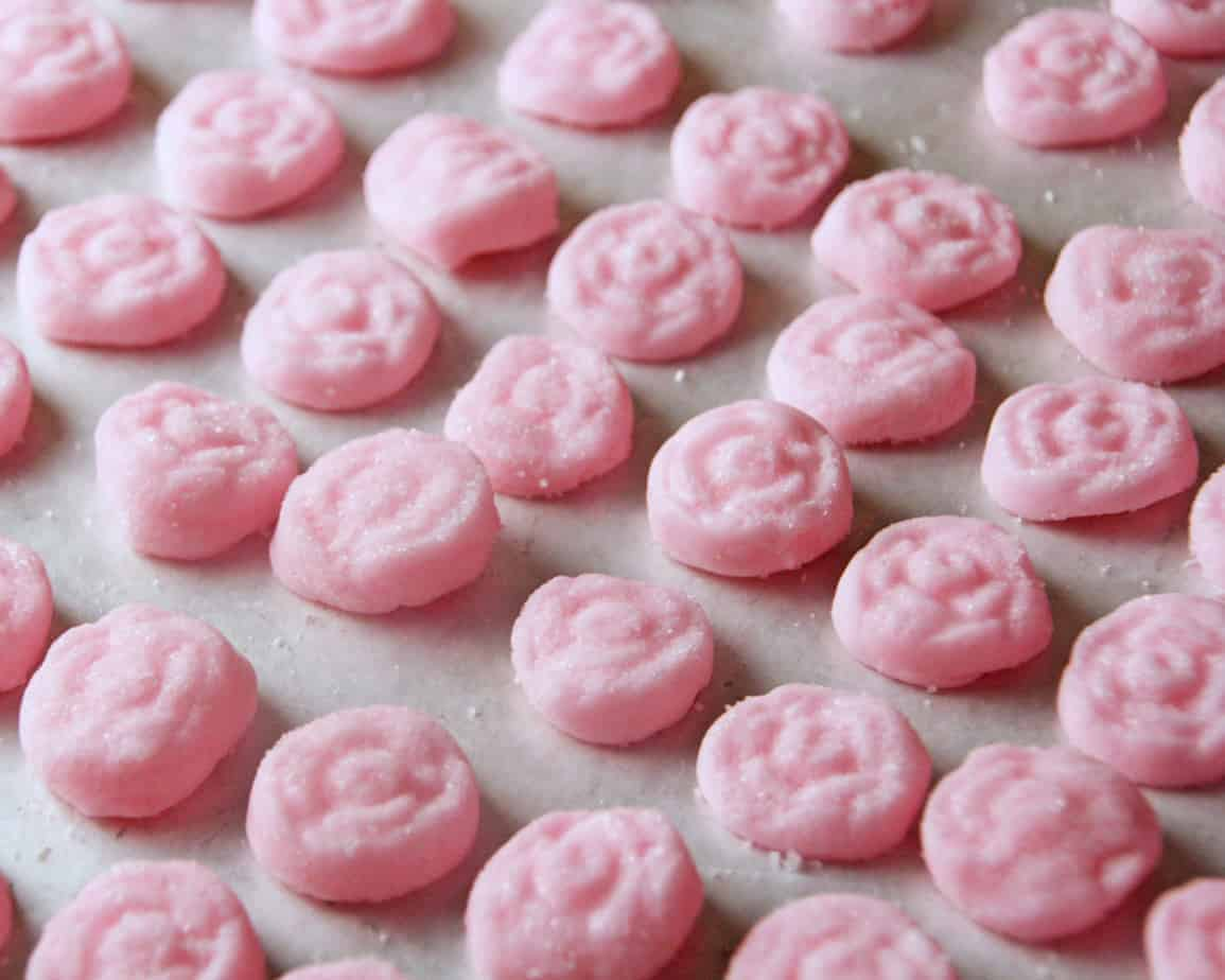 Cream Cheese Mints Rose Bakes