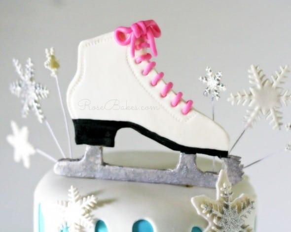 Ice Skate Cake Topper