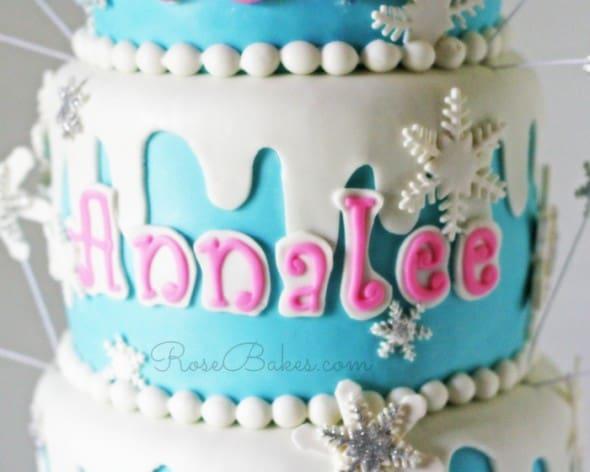 Name on Winter Wonderland Cake