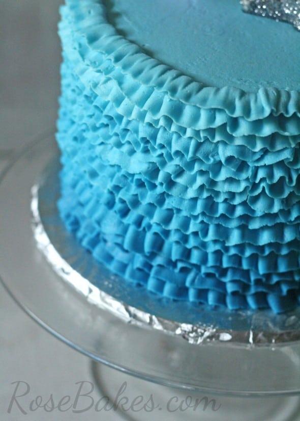 Ombre Blue Buttercream Ruffles