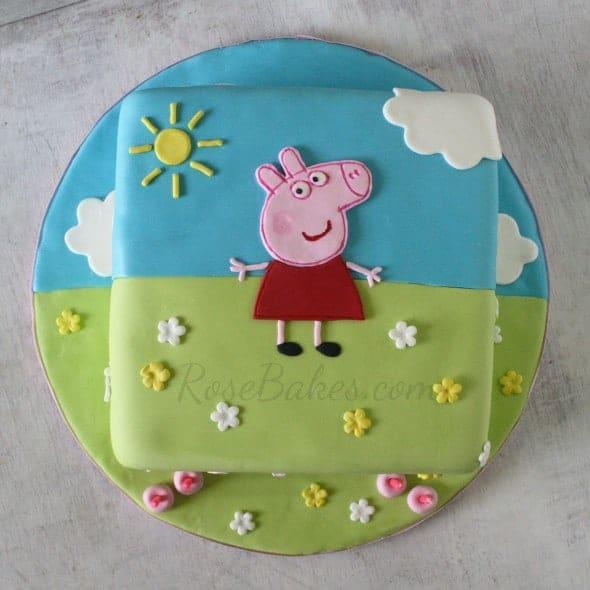 Peppa Pig Cake Above