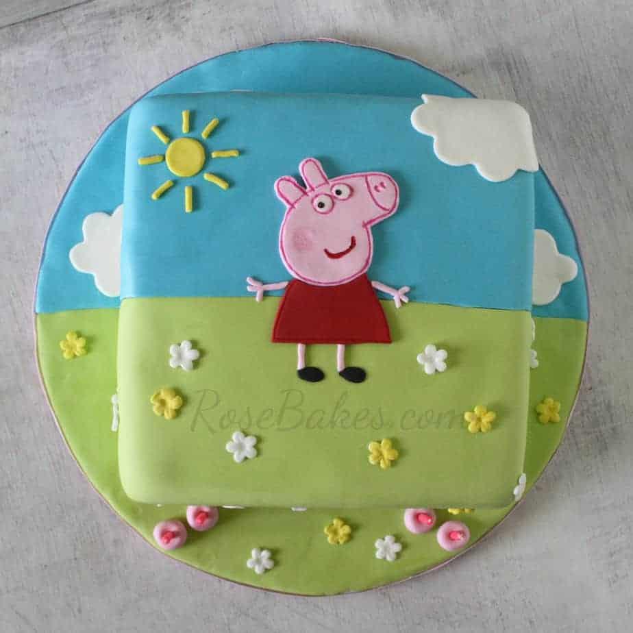 peppa pig cake rose bakes