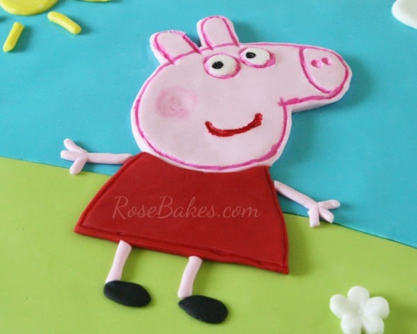 Peppa pig cake rose bakes for Peppa pig cake template free