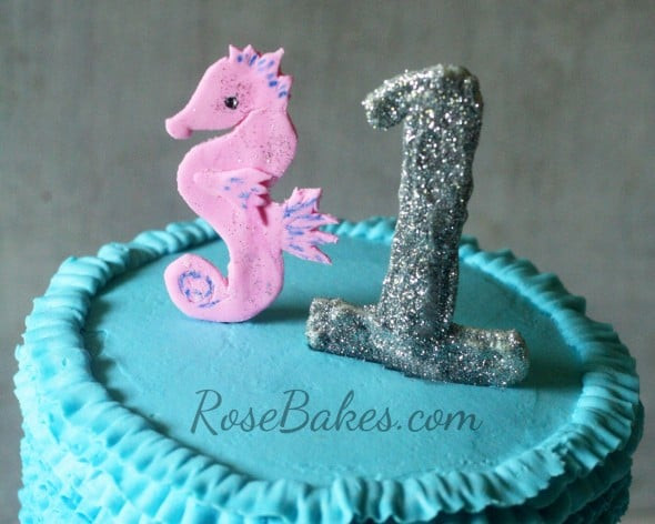 Seahorse and Glitter One Toppers