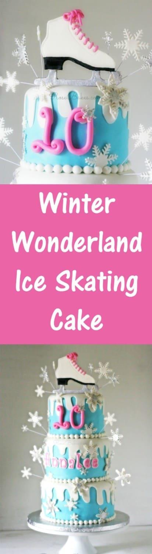 Winter Wonderland Ice Skating Cake   RoseBakes.com