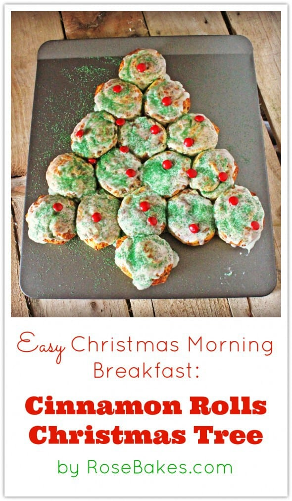 Easy Christmas Morning Breakfast Cinnamon Rolls Christmas Tree