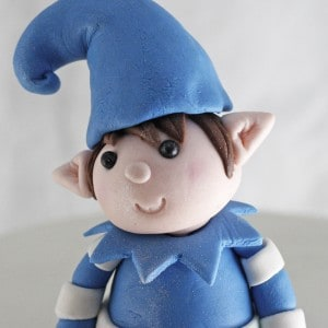 Gum paste elf topper