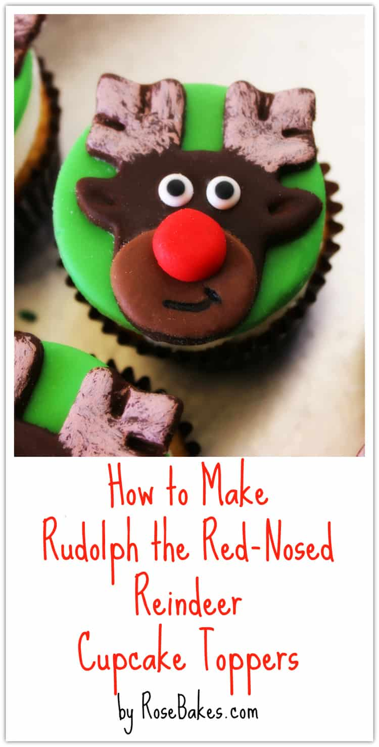 How to Make Rudolph Cupcake Toppers