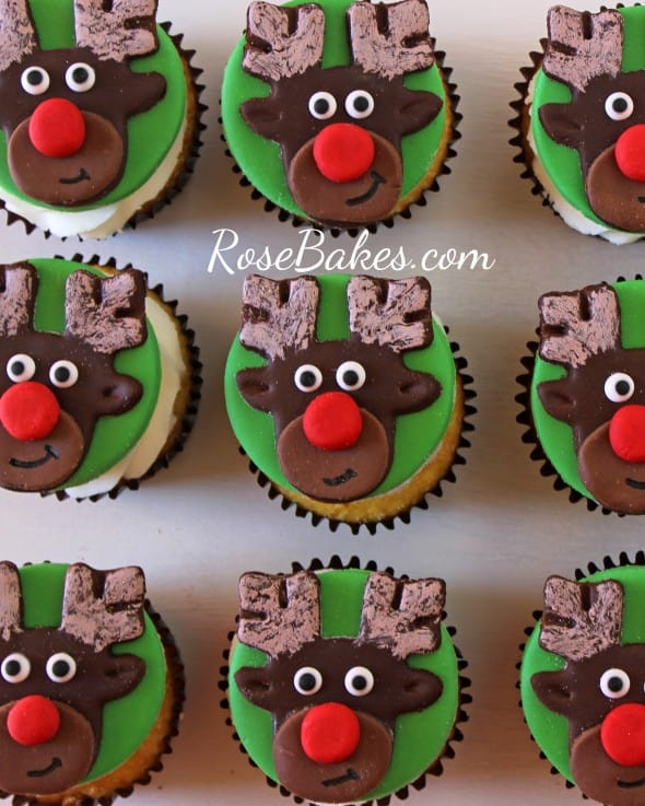 Rudolph the Red-Nosed Reindeer Cupcake Toppers