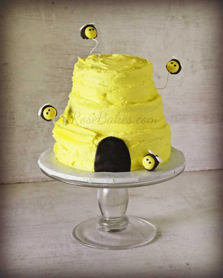 Tiny Beehive Smash Cake