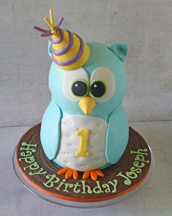 Blue Owl 3D Cake