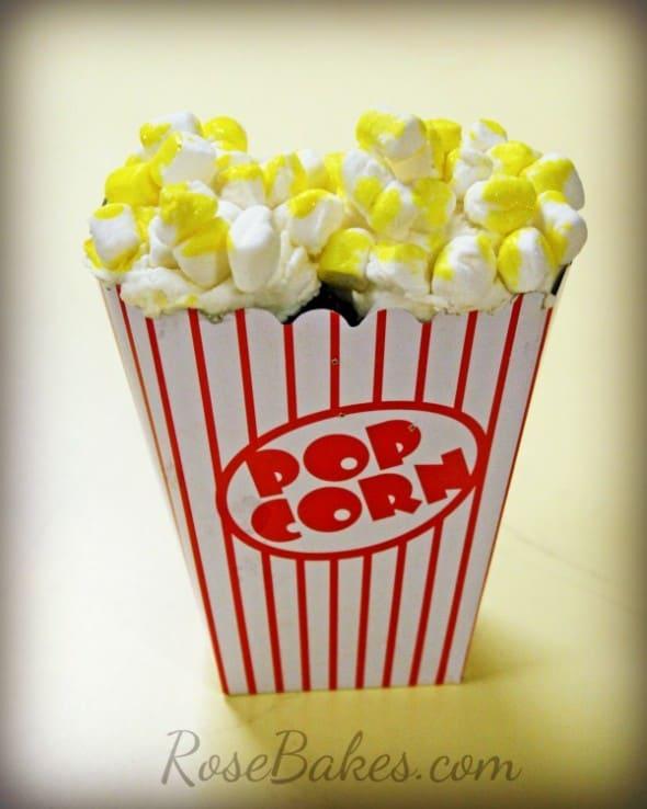 Box of Popcorn Cupcakes