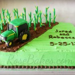 Corn Farmer Groom's Cake