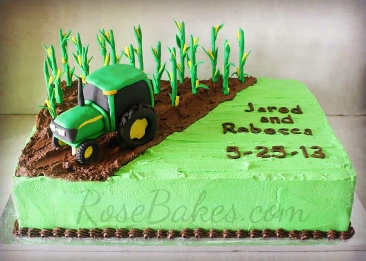 Corn Farmer Groom's Cake