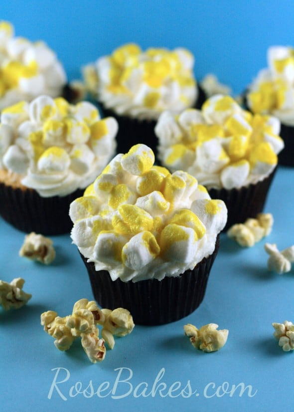 How to Make Easy Popcorn Cupcakes 07