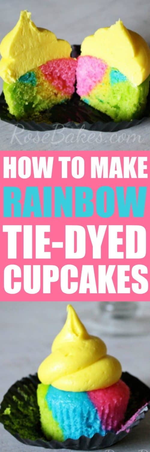 How to Make Rainbow Tie-Dyed Cupcakes