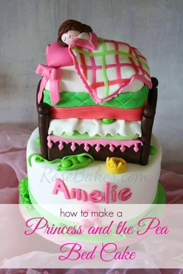 How to make a princess the pea bed cake rose bakes for How to make a princess bed
