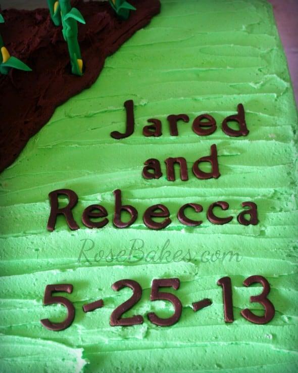 Names on Groom's Cake