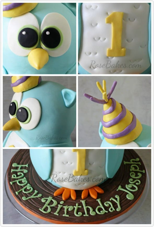 Owl Cake Collage