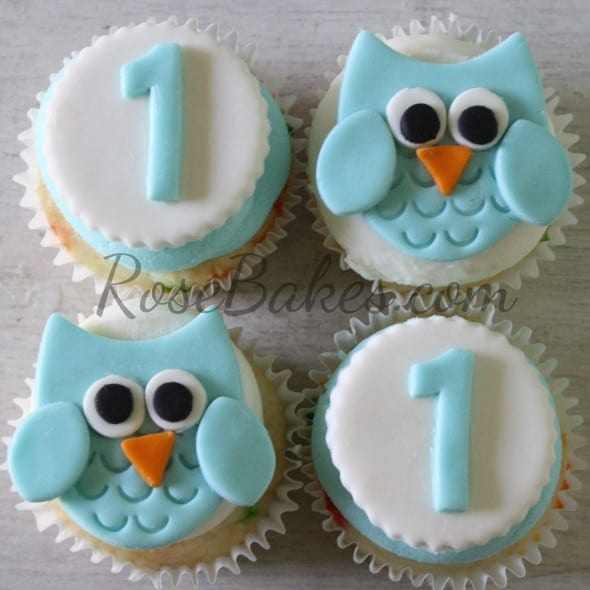 Owl Cupcakes For Baby Shower: Boy 1st Birthday : Standing Owl Cake, Smash Cake & Owl
