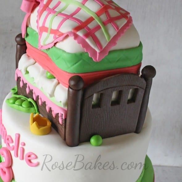 Princess and the Pea Cake Foot Board