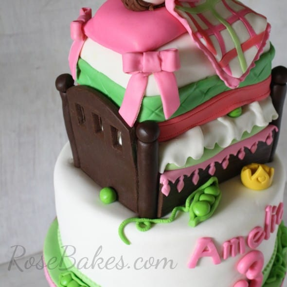How To Make A Princess Amp The Pea Bed Cake Rose Bakes