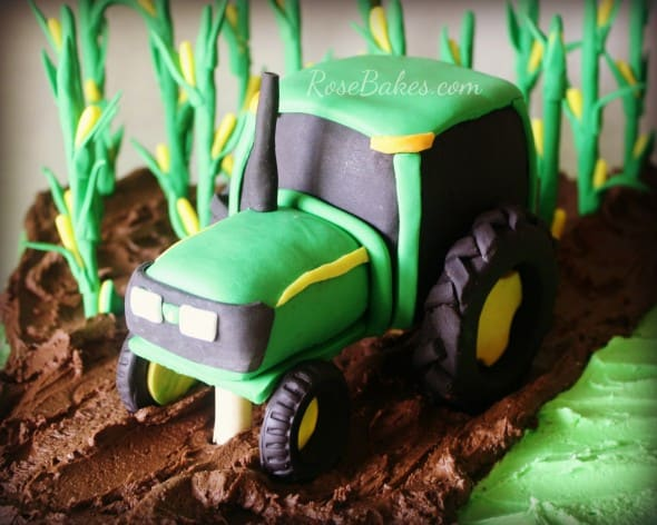 Corn Farming Tractor Cake From RoseBakes