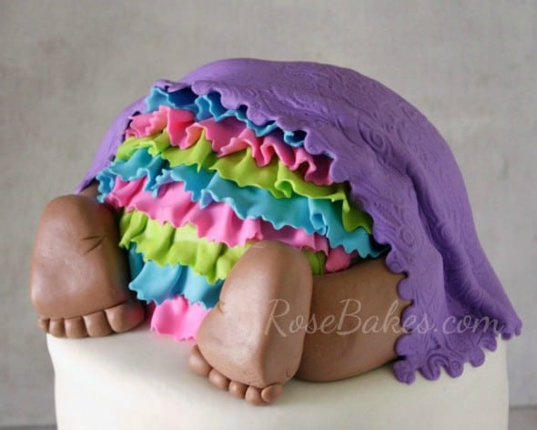 Baby Bottom Cake with Ruffled Bloomers