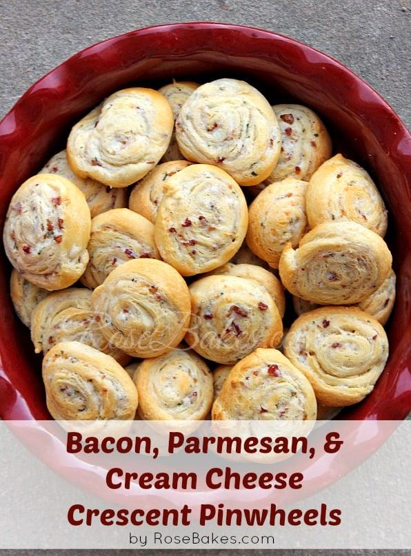 Bacon Parmesan Cream Cheese Crescent Pinwheels