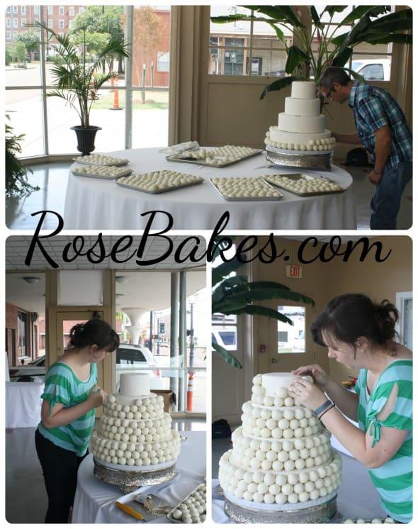 Building the Cake Ball Cake