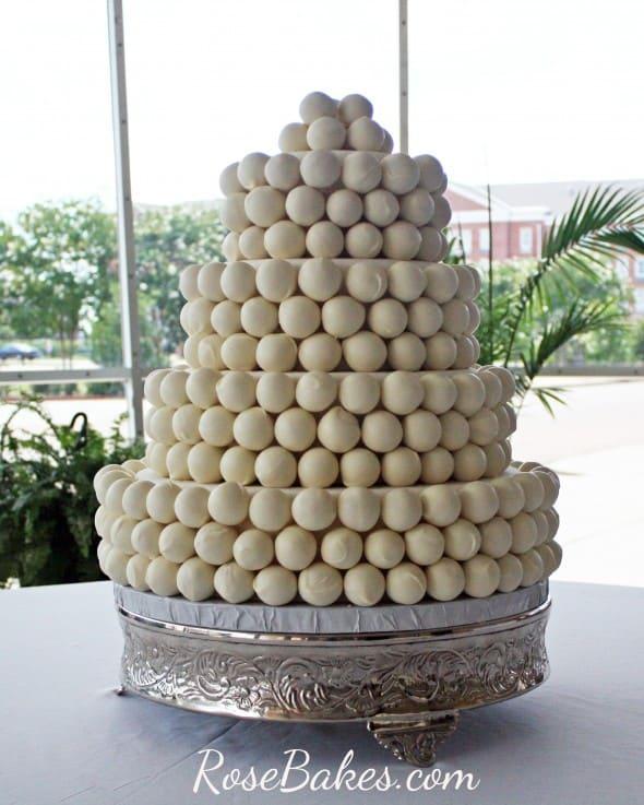 Cake Ball Wedding Cake 2