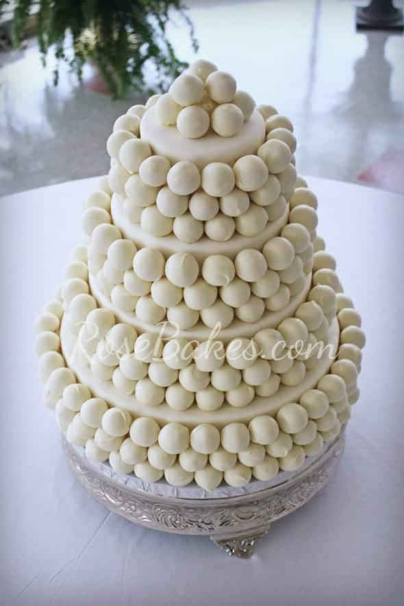 Cake Ball Wedding Cake PM