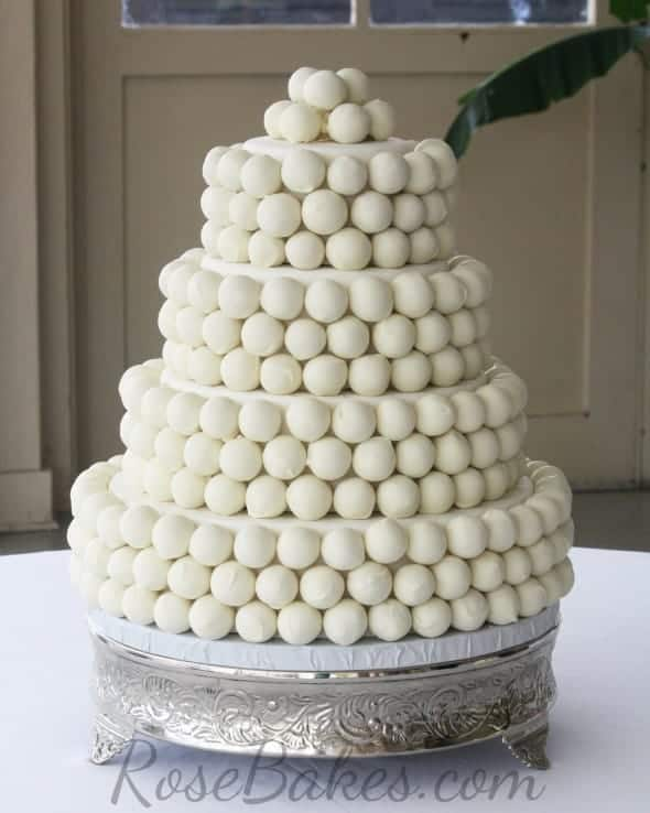 how to make a cake ball wedding cake rose bakes