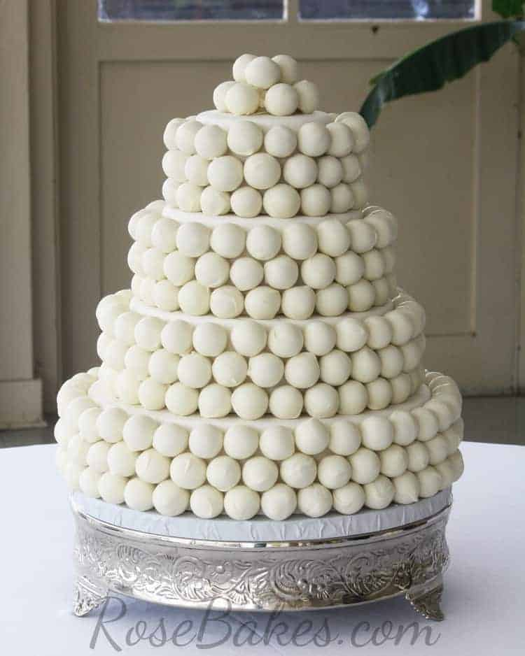 How to Make a Cake Ball Wedding Cake - Rose Bakes