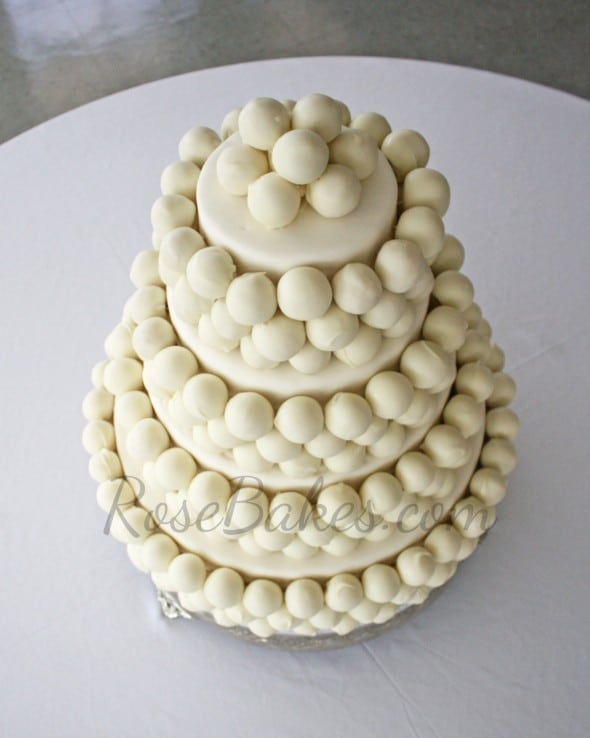 Cake Balls Wedding Cake 05 WM
