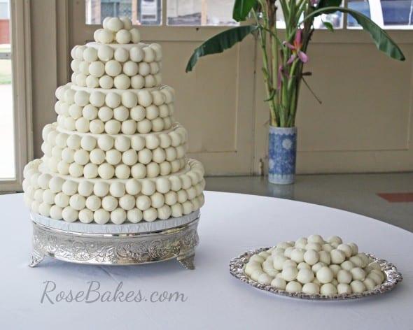 Cake Balls Wedding Cake with Platter