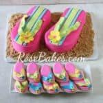 Flip Flops Cake and Cookies