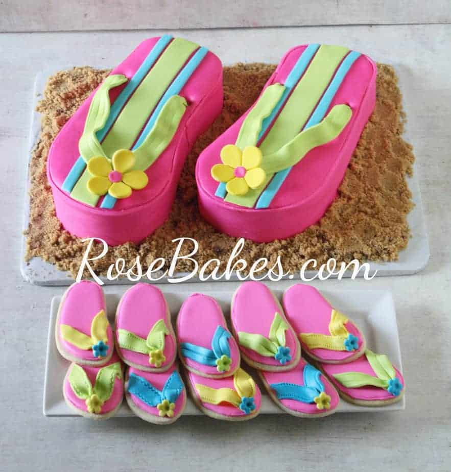 Flip Flop Cakes And Cupcakes