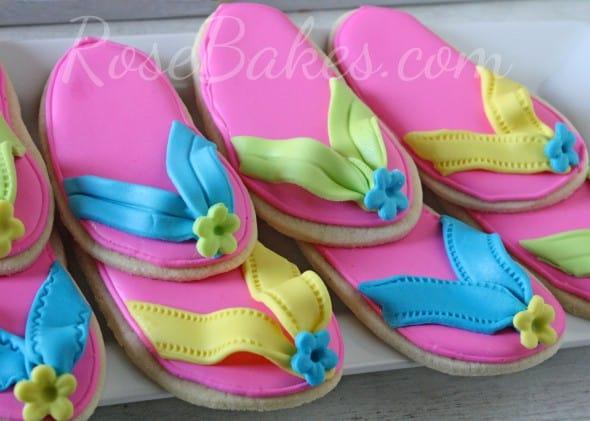 Flip Flops Cookies 2