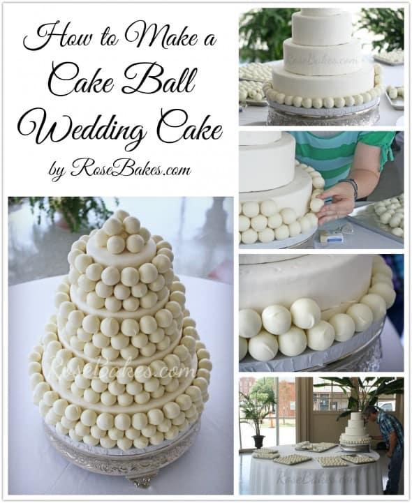 How To Make A Wedding Cake.How To Make A Cake Ball Wedding Cake Rose Bakes