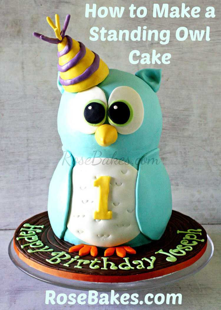 How to Make a Standing Owl Cake