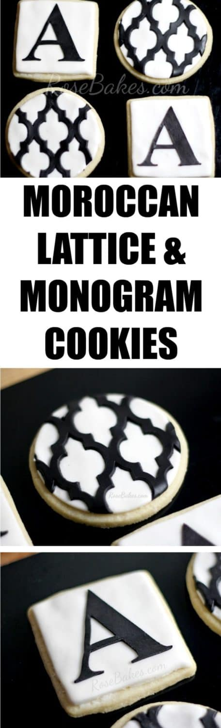 Moroccan Lattice & Monogram Cookies