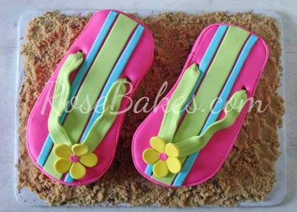 Pink Flip Flops Cake
