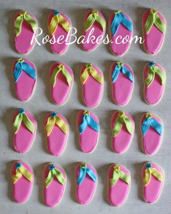 Pink Flip Flops Cookies