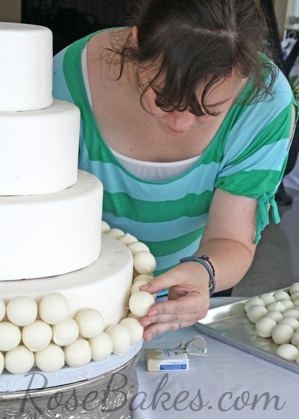 Rose working on the cake WM