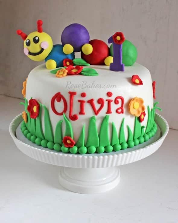 Ideas For Baby Girl St Birthday Cake