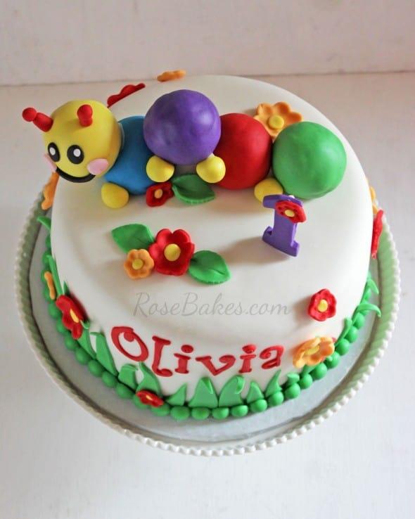 Baby Einstein Cake above