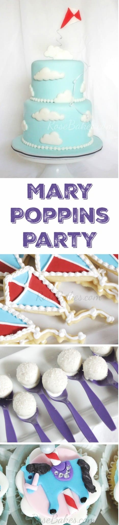 Mary Poppins Party Cake Cookies Cupcakes Cake Pops